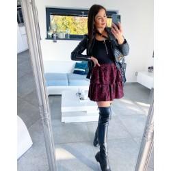 Vrstvená tečkovaná sukně  S/M