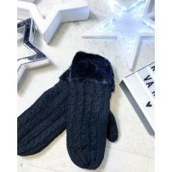 Černé rukavice palčáky s vyteplením