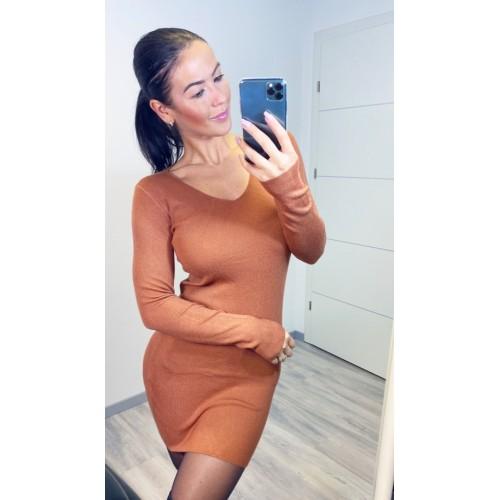 Hnědé šaty Cayen