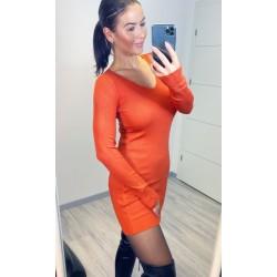 Cihlové šaty Cayen