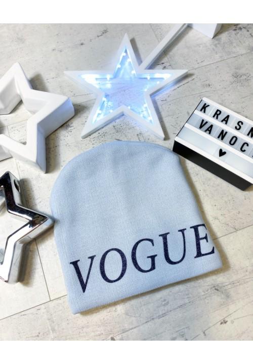 Světle modrá čepička Vogue