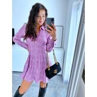 Růžovo fialové šaty Star