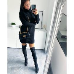 Svetrové šaty Samuel barva černá