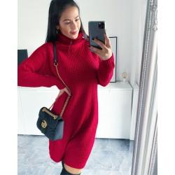 Svetrové šaty Samuel barva červená