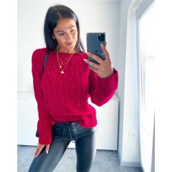 Červený svetr Craft