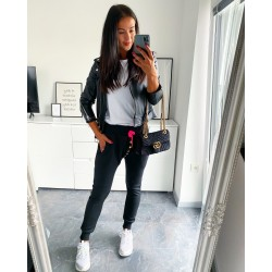 Vyteplené teplákové baggy kalhoty model neon růžový velikost S M L