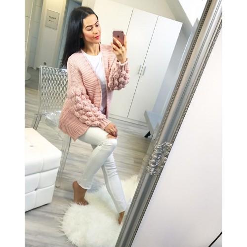 Luxusní baby rose svetr
