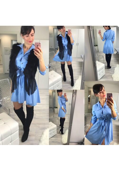 Modré šaty Dana
