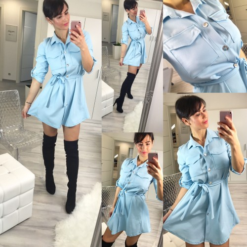 Modré šaty Naomi