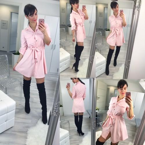 Růžové šaty Naomi
