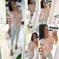 Světle růžový svetr Valentina