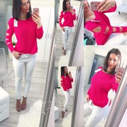 Fuchsiový svetr Valentina