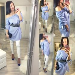 Modro bílé šaty/tunika