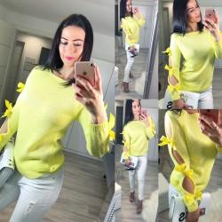 Pastelově žlutý svetr Loly