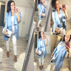 Nádherný kabátek Fleur modrý