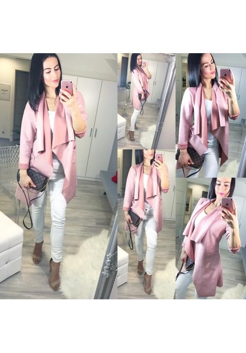 Růžový kabátek Fleur