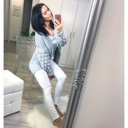 Šedý luxusní svetr