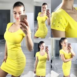Žluté bavlněné šaty Yvone