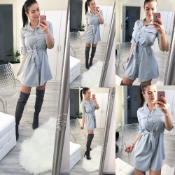 Šedé šaty Naomi
