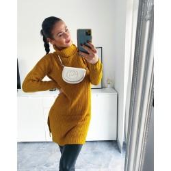 Hořčicové šaty Merit