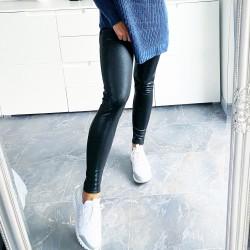 Teplé lesklé legínové kalhoty Utah S a M