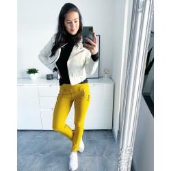 Hořčicové kalhoty Smart vel M