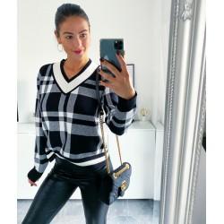 Bílo-černý svetr Helen