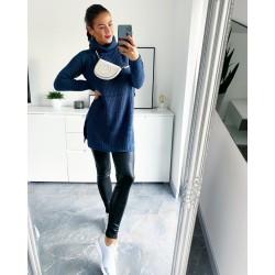 Středně modré šaty Merit