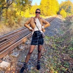 Luxusní kožená sukně se zipem vel S M L