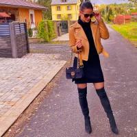 Černé šaty Merit